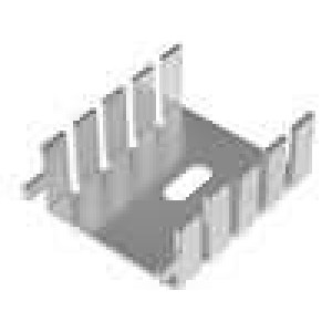 Chladič lisovaný TO220 L:33mm W:25,4mm H:12,7mm 20K/W hliník