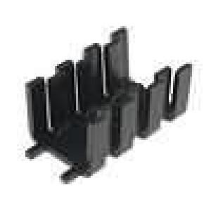 Chladič lisovaný SOT32 černá L:32mm W:18,5mm H:15mm 16K/W