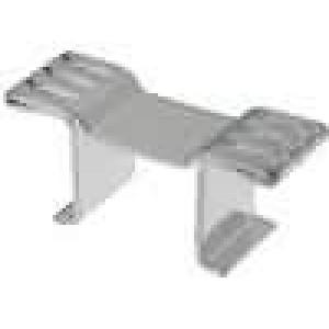 Chladič lisovaný DPAK, TO252 L:8mm W:23mm H:10mm 31,5K/W měď