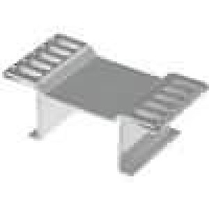 Chladič lisovaný D2PAK, TO263 L:13mm W:26mm H:10mm 22,8K/W