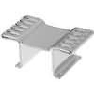 Chladič lisovaný DPAK, TO252 L:13mm W:23mm H:10mm 25K/W měď