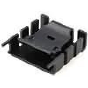 Chladič lisovaný TO220 černá L:25mm W:25mm H:9,5mm 16,6K/W