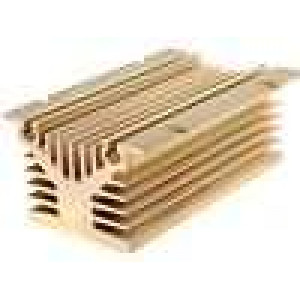 Chladič lisovaný Y pro jednofázová relé zlatá L:120mm W:80mm
