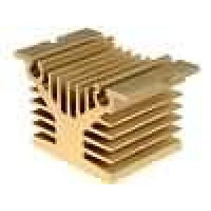 Chladič lisovaný Y pro jednofázová relé zlatá L:50mm W:80mm