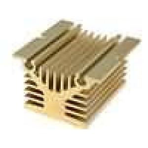 Chladič lisovaný Y pro jednofázová relé zlatá L:80mm W:80mm
