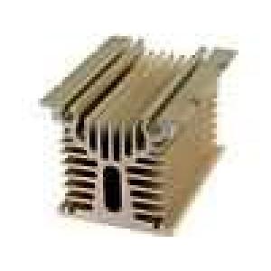 Chladič lisovaný Y pro jednofázová relé zlatá L:100mm W:80mm