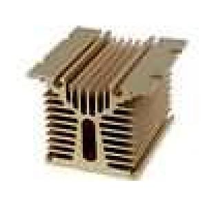 Chladič lisovaný Y pro jednofázová relé zlatá L:100mm H:81mm