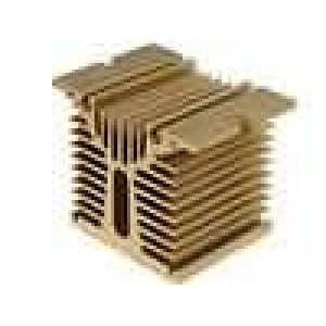 Chladič lisovaný Y pro jednofázová relé zlatá L:70mm W:110mm