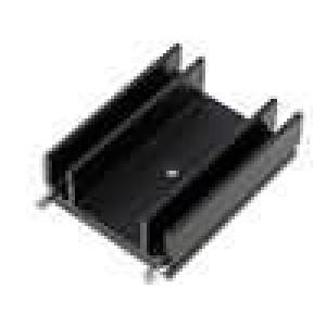 Chladič lisovaný TO220 černá L:37,5mm W:29mm H:12mm 13K/W