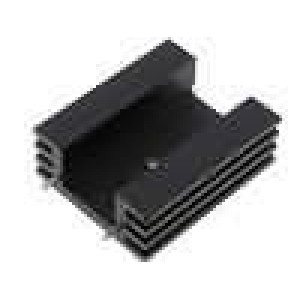 Chladič lisovaný TO220 černá L:38,1mm W:32mm H:14mm 11K/W