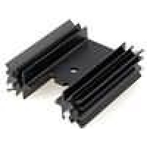 Chladič lisovaný TO220 černá L:38,1mm 10,8K/W hliník