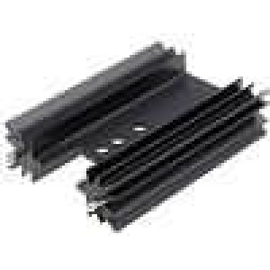 Chladič lisovaný TO220 černá L:50,8mm 9,1K/W hliník