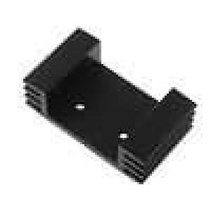 Chladič lisovaný U TO220 černá L:25mm W:43mm H:13mm