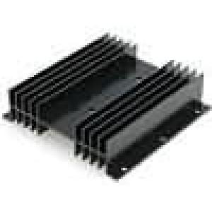 Chladič lisovaný H TO3 černá L:100mm W:102mm H:25mm hliník