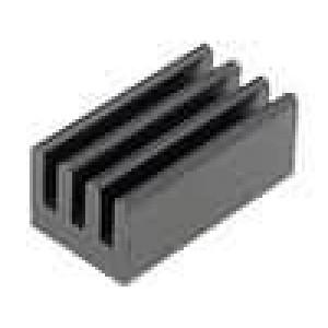 Chladič lisovaný černá L:12,7mm W:6,35mm H:4,83mm AL6063-T5