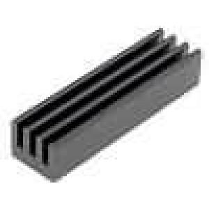 Chladič lisovaný černá L:25,4mm W:6,35mm H:4,83mm AL6063-T5
