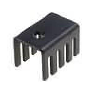 Chladič lisovaný U TO220 černá L:19,05mm W:13,21mm H:12,7mm