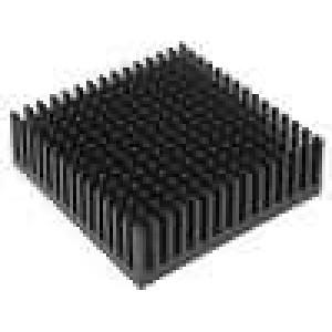 Chladič lisovaný černá L:50,8mm W:50,8mm H:16,51mm hliník