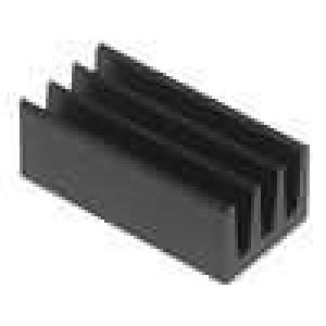 Chladič lisovaný černá L:13mm W:6,3mm H:4,8mm 63K/W hliník