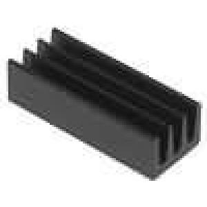 Chladič lisovaný černá L:17mm W:6,3mm H:4,8mm 51K/W hliník