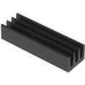 Chladič lisovaný černá L:22mm W:6,3mm H:4,8mm 34K/W hliník