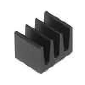 Chladič lisovaný černá L:5mm W:6,3mm H:4,8mm 123K/W hliník