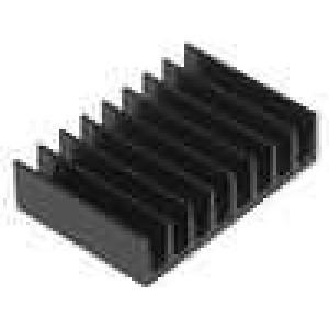 Chladič lisovaný černá L:13mm W:19mm H:4,8mm 29K/W hliník