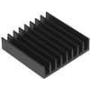 Chladič lisovaný černá L:19mm W:19mm H:4,8mm 22K/W hliník