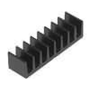 Chladič lisovaný černá L:5mm W:19mm H:4,8mm 56K/W hliník