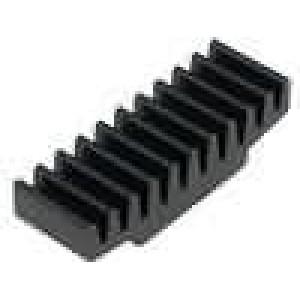 Chladič lisovaný černá L:10mm W:30mm H:7,5mm 26K/W hliník