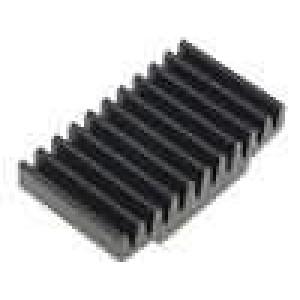 Chladič lisovaný černá L:17mm W:30mm H:7,5mm 17K/W hliník