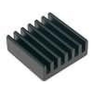 Chladič lisovaný černá L:22,3mm W:22,3mm H:8mm 21K/W hliník