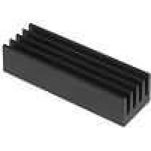 Chladič lisovaný černá L:26mm W:8mm H:6mm 26K/W hliník