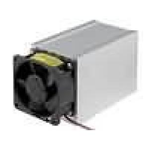 Chladič lisovaný L:100mm W:62mm H:74mm 0,2K/W hliník 12VDC