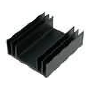 Chladič lisovaný TO3 černá L:75mm W:65mm H:24mm 3,8K/W 88g