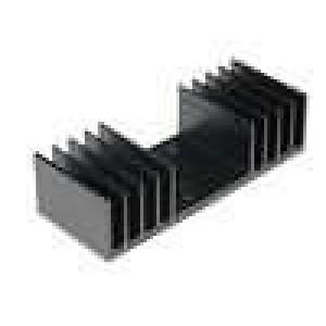 Chladič lisovaný TO3 černá L:37,5mm W:97mm H:25mm 3,8K/W