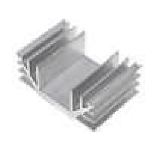 Chladič lisovaný U L:50mm W:74mm H:30mm hliník