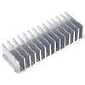 Chladič lisovaný žebrovaný L:60mm W:165mm H:35mm hliník