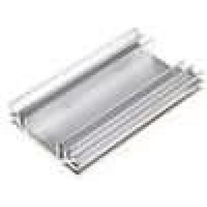 Chladič lisovaný U L:120mm W:70mm H:19mm hliník