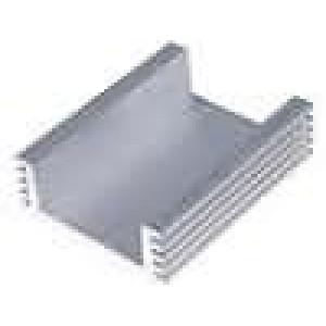 Chladič lisovaný L:50mm W:40mm H:15mm 85cm2 vnitřní šíře: 28mm
