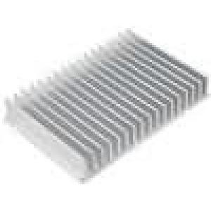 Chladič lisovaný žebrovaný L:100mm W:150mm H:25mm hliník