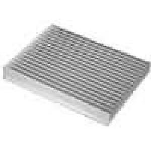 Chladič lisovaný žebrovaný L:200mm W:150mm H:25mm hliník