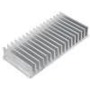 Chladič lisovaný žebrovaný L:70mm W:150mm H:25mm hliník