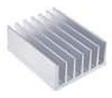Chladič lisovaný žebrovaný L:100mm W:78mm H:35mm hliník