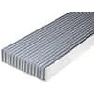 Chladič lisovaný žebrovaný L:1000mm W:190,5mm H:50mm hliník