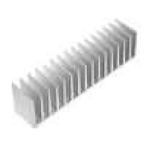 Chladič lisovaný žebrovaný L:40mm W:190,5mm H:50mm hliník