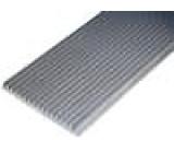 Chladič lisovaný žebrovaný L:1000mm W:150mm H:15mm hliník