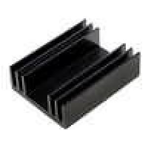 Chladič lisovaný TO220 černá L:37,5mm W:29mm H:11,5mm 11K/W