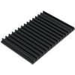 Chladič lisovaný žebrovaný černá L:100mm W:159mm H:10mm