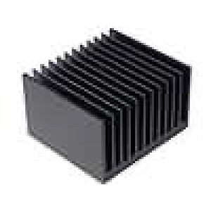 Chladič lisovaný žebrovaný černá L:100mm W:112mm H:67,5mm